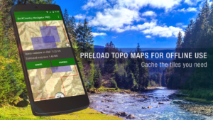 تصویر محیط BackCountry Navigator TOPO GPS v7.0.7