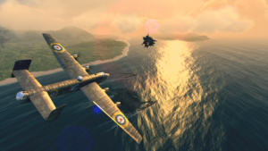 تصویر محیط Warplanes: WW2 Dogfight v1.5