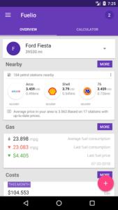 تصویر محیط Fuelio: Gas log & costs v7.5.6