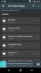 تصویر محیط EZ Folder Player v1.3.8
