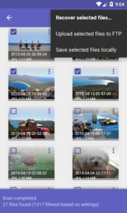 تصویر محیط DiskDigger Pro file recovery v1.0-pro-2019-03-09