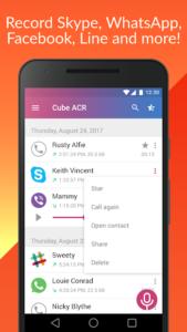 تصویر محیط Cube Call Recorder ACR Premium v2.3.163