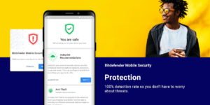 تصویر محیط Bitdefender Mobile Security & Antivirus v3.3.063.968