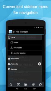 تصویر محیط B1 File Manager and Archiver Pro v1.0.087