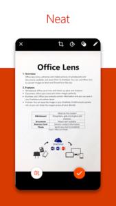 تصویر محیط Office Lens v16.0.12827.20100