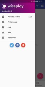 تصویر محیط Wiseplay Premium v6.3.1