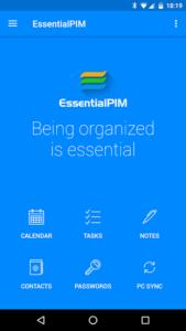 تصویر محیط EssentialPIM – Your Personal Information Manager v5.8