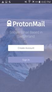 تصویر محیط ProtonMail – Encrypted Email v1.11.0