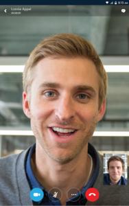 تصویر محیط Skype for Business for Android v6.25.0.27
