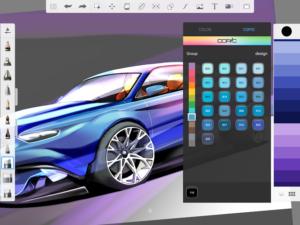 تصویر محیط SketchBook – draw and paint v5.0.3