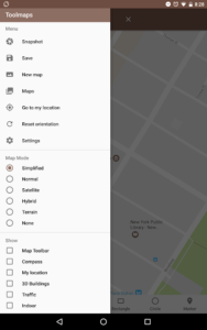 تصویر محیط Tools for Google Maps v3.73