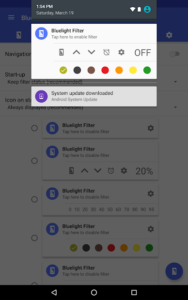 تصویر محیط Bluelight Filter License Key v3.3.2