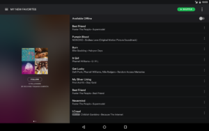 تصویر محیط Spotify Music v8.5.42.812