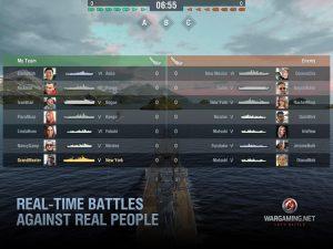 تصویر محیط World of Warships Blitz: Gunship Action War Game v2.5.0 + data