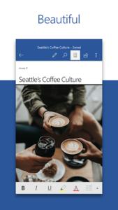 تصویر محیط Microsoft Word v16.0.12130.20208