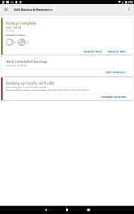 تصویر محیط SMS Backup & Restore Pro v10.05.612