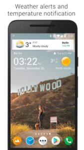 تصویر محیط Transparent clock weather Pro v5.6.5