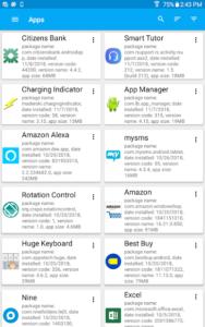 تصویر محیط App Manager v5.37