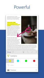 تصویر محیط Microsoft Word v16.0.12827.20140