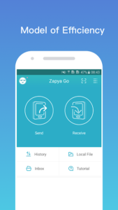 تصویر محیط Zapya Go – Free File Transfer & Sharing v1.5