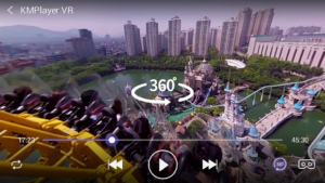 تصویر محیط KMPlayer VR (360degree, Virtual Reality) v0.1.12
