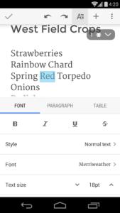 تصویر محیط Google Docs v1.19.312.02