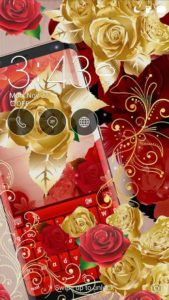 تصویر محیط Red Rose Keyboard v4.2.3