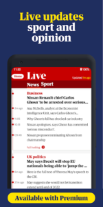 تصویر محیط The Guardian – Live World News, Sport & Opinionn v6.55.2485
