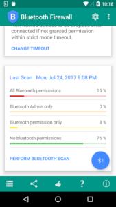 تصویر محیط Bluetooth Firewall v4.4.1