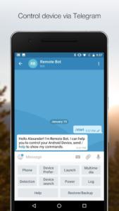 تصویر محیط Remote Bot for Telegram Premium v1.9.43