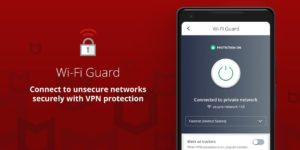 تصویر محیط McAfee Mobile Security & Lock v5.2.0.231
