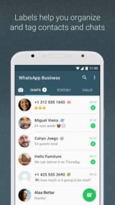 تصویر محیط WhatsApp Business v2.20.207.6