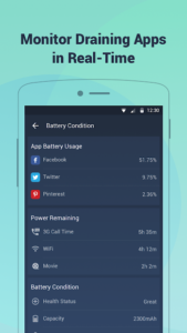 تصویر محیط Battery Doctor-Battery Life Saver & Battery Cooler v6.33