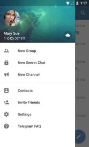 تصویر محیط Telegram v5.9.0