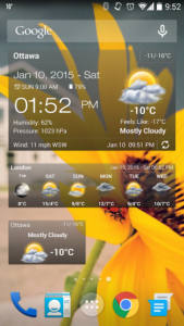 تصویر محیط Weather & Clock Widget Full v4.1.0.9