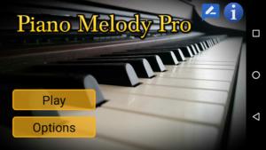 تصویر محیط Piano Melody Pro v200