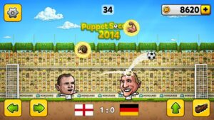 تصویر محیط ⚽Puppet Soccer 2014 – Big Head Football 🏆 v3.0.4