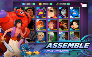 تصویر محیط Disney Heroes: Battle Mode v1.7.2