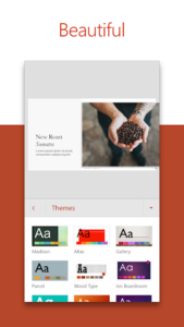 تصویر محیط Microsoft PowerPoint: Slideshows and Presentations v16.0.12228.20260