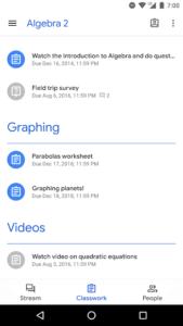 تصویر محیط Google Classroom v6.12.501.02