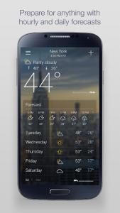 تصویر محیط Yahoo Weather v1.30.58
