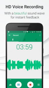 تصویر محیط Parrot Voice Recorder v3.0.1 build 215