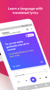 تصویر محیط Musixmatch Lyrics v7.5.1