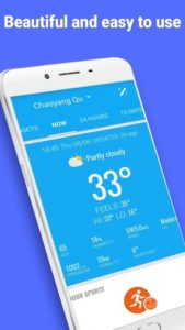 تصویر محیط Amber Weather – Local Forecast,live weather app v3.9.5