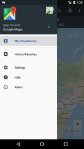 تصویر محیط Map Coordinates Pro v4.8.32