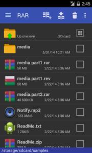 تصویر محیط RAR Premium v5.70 build 70