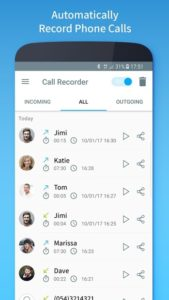 تصویر محیط Call Recorder – Automatic v1.1.222