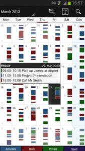 تصویر محیط Business Calendar v1.6.0.3