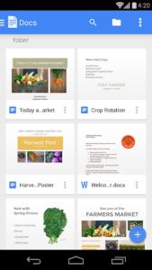 تصویر محیط Google Docs v1.20.402.06