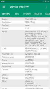 تصویر محیط Device Info HW+ v4.28.1 build 155